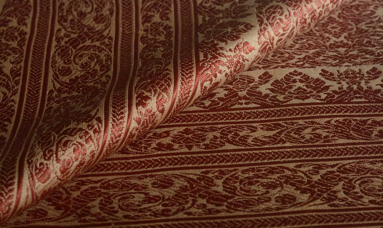 Golden Silk Brocatel Scarf 666gs
