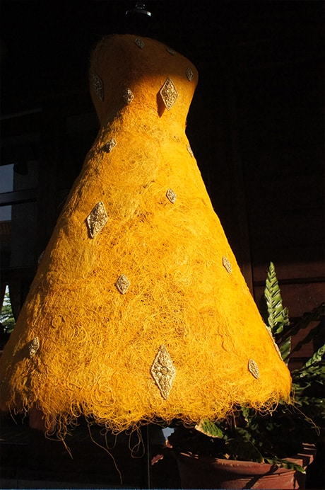 Golden Silk Khmer Royal Dress