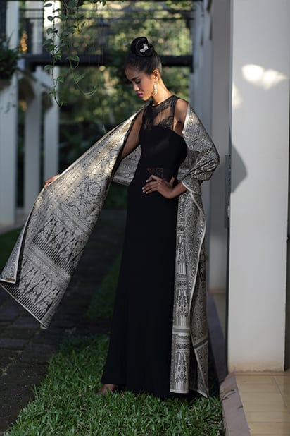Golden Silk Khmer Scarf