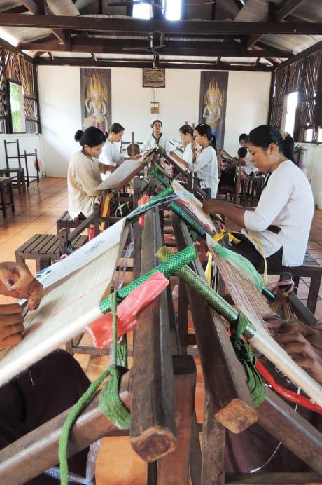 Golden Silk Staff Weaving Thread
