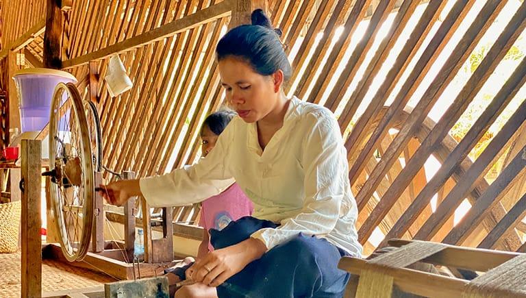 Golden Silk Thread Drying Process