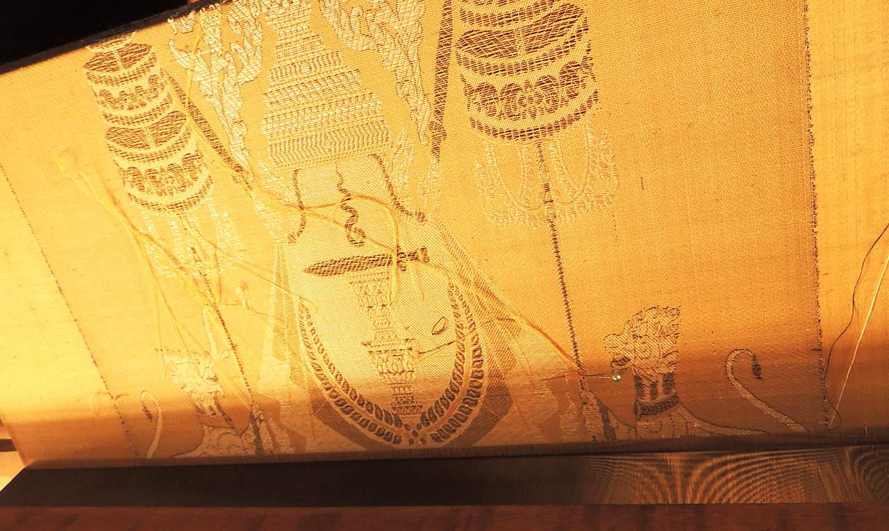 Khmer Royal Golden Silk Fabric