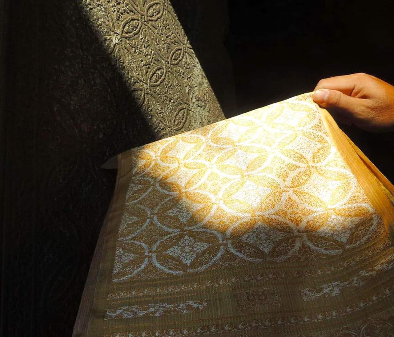 Golden Silk Royal Brocatel at Angkor Wat